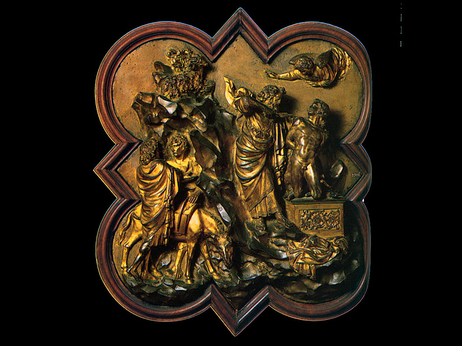 sacrifice of isaac ghiberti Ghiberti and donatello as relief sculptors ghiberti was for some time the master  of donatello,  the piece to cast for the competition was the sacrifice of isaac.