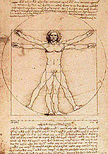 "Leonardo's VITRUVIAN MAN / ""Diagram of the Mysteries"" by Fra Mercurius"
